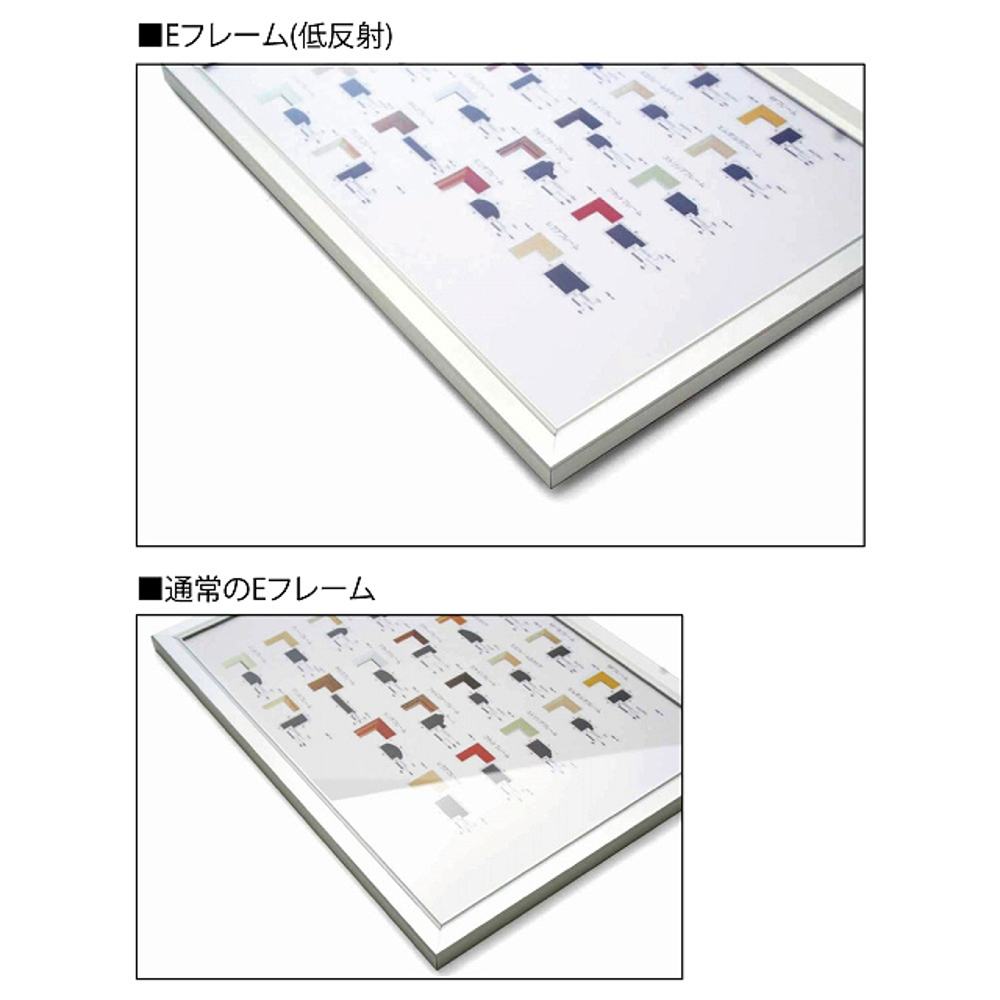 アルミフレーム・アルミパネル/Eフレーム(低反射) A2サイズ(420×594mm)
