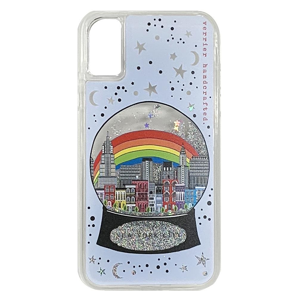 ヴェリエ/リキッドiPhone ケース NEW YORK CITY SNOWGLOBE