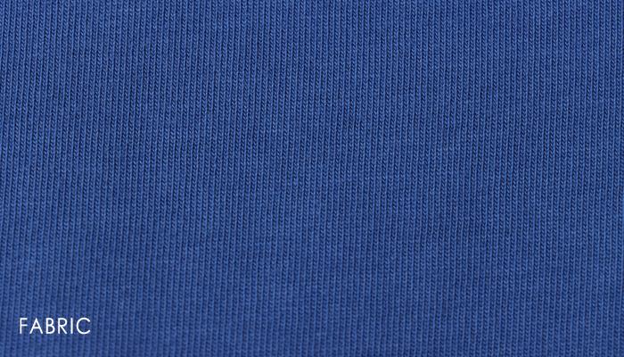 オーガニックコットンクロップドベスト/ART WORK BLUE Vネックプルオーバー 重ね着 コットン