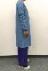 スラブヴィンテージ天竺ロングカーディガン/ART WORK BLUE 定番 人気 カットソー トップス 羽織 長袖