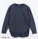 CLASSIC天竺ミディーTシャツ/ART WORK BLUE 定番 人気 カットソー トップス チュニック 重ね着  長袖