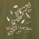 奄美プリントTシャツ/ART WORK BLUE 奄美大島・徳之島 世界自然遺産記念プリント半袖Tシャツ