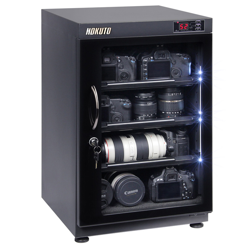 HOKUTO防湿庫・ドライボックス HPシリーズ88L 5年保証送料無料 全自動除湿機能 省エネ機能搭載 スタイリッシュ カメラやレンズのカビ対策楽々、静音、無振動カメラ保管庫 デシケーター カメラカビ対策 除湿庫 レンズカビ対策 ドライキャビネット 5年保証 送