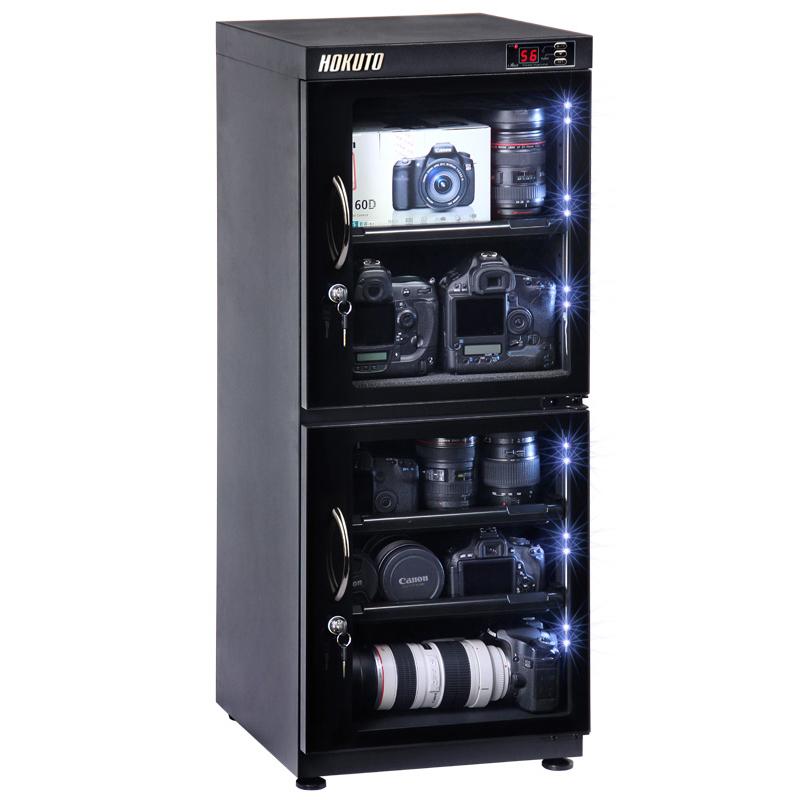 HOKUTO防湿庫・ドライボックス HPシリーズ132L 5年保証送料無料 全自動除湿機能 省エネ機能搭載 スタイリッシュ カメラやレンズのカビ対策楽々、静音、無振動カメラ保管庫 デシケーター カメラカビ対策 除湿庫 レンズカビ対策 ドライキャビネット 5年保証
