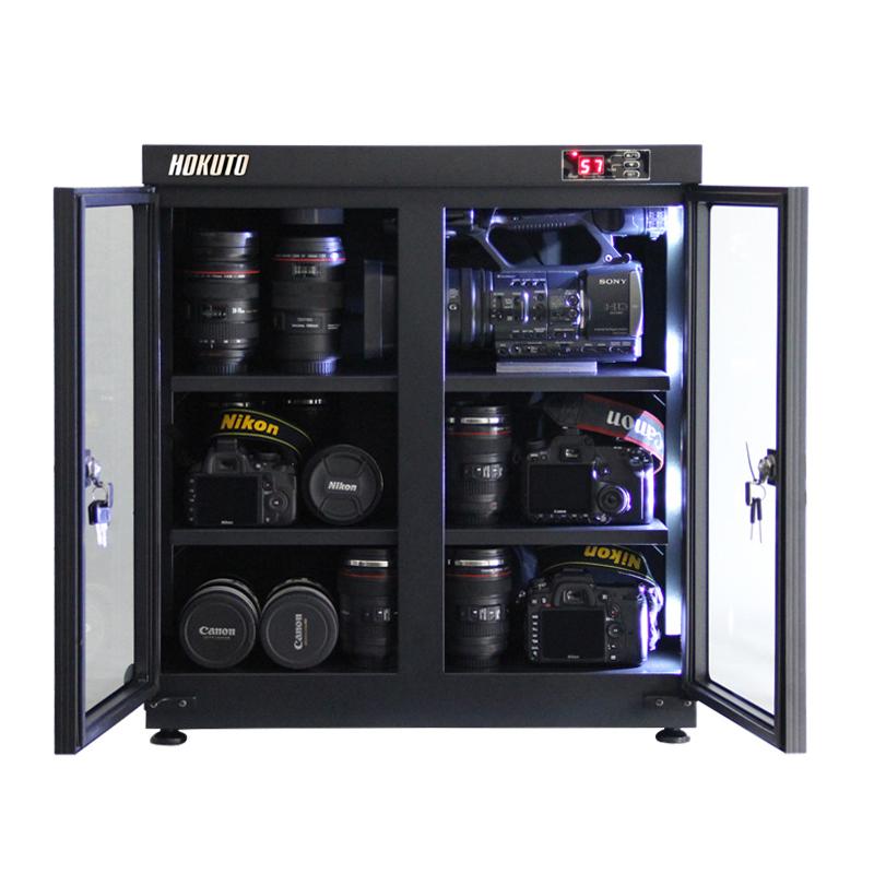 HOKUTO防湿庫・ドライボックス HPシリーズ135L 5年保証送料無料 全自動除湿機能 省エネ機能搭載 スタイリッシュ カメラやレンズのカビ対策楽々、静音、無振動カメラ保管庫 デシケーター カメラカビ対策 除湿庫 レンズカビ対策 ドライキャビネット 5年保証