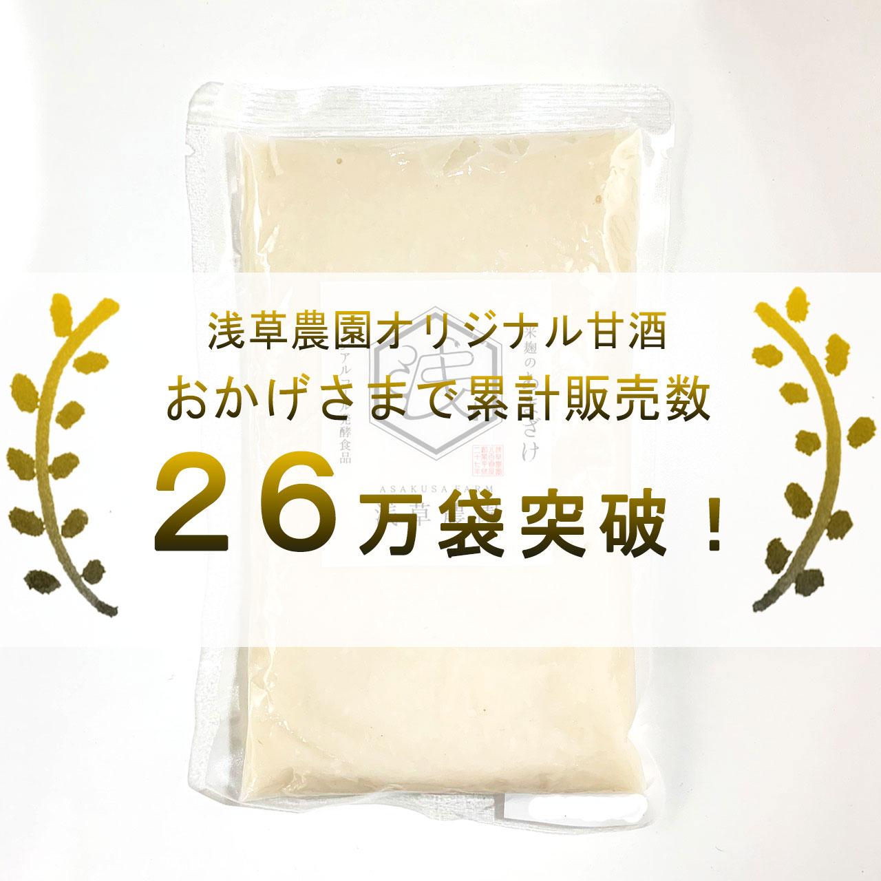 10袋セット まずは無理のない量から 米こうじ甘酒 360g 浅草農園オリジナル