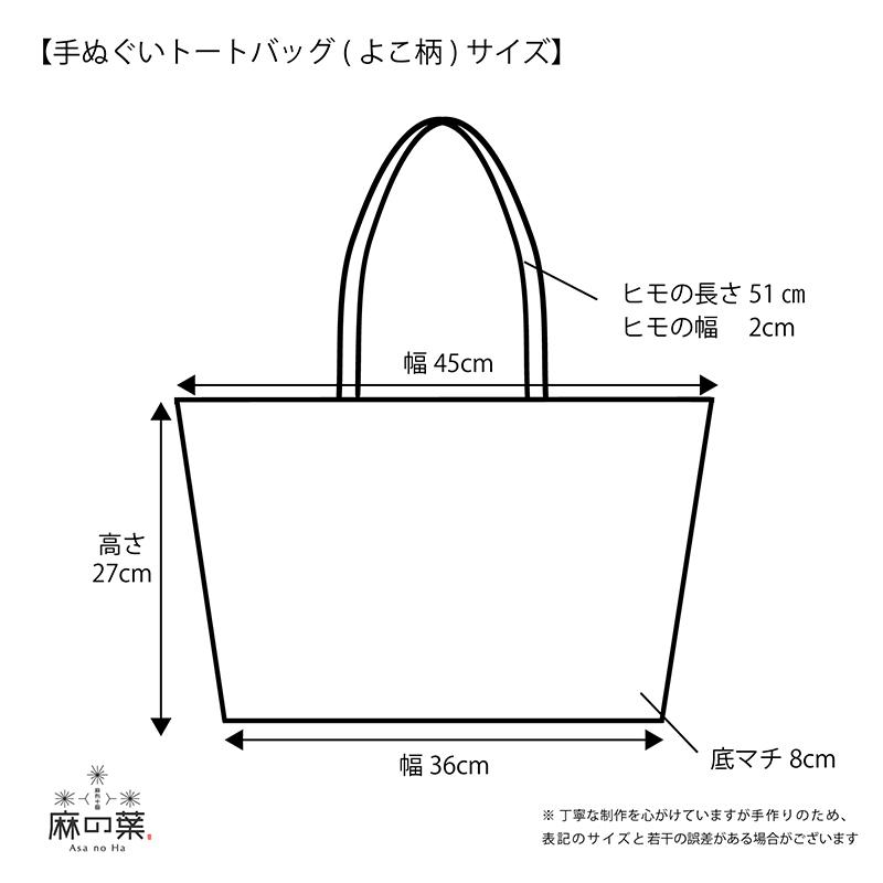 手ぬぐいエコバッグ「神奈川沖浪裏」