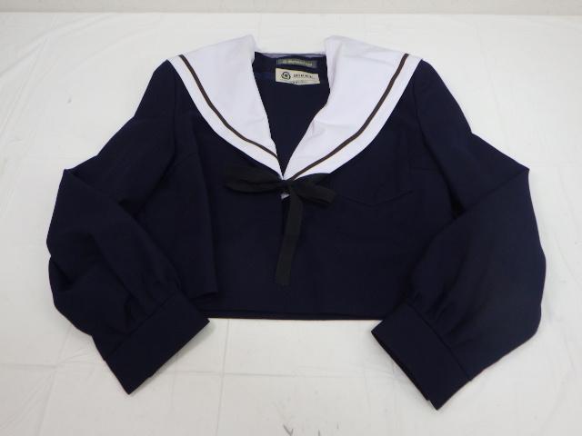 U55 旭立高校 冬服セーラー服165A+冬服スカート/yt2049【15ADC】