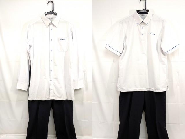 Y01 栄徳高校 半袖ポロシャツ+長袖シャツ+夏服ズボン/yt2354【8XJE】