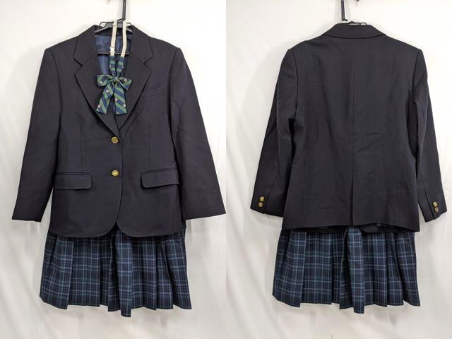 j91 横浜市緑が丘中学校 ベスト+夏服スカート+ネクタイ/yt2655【1SGER】