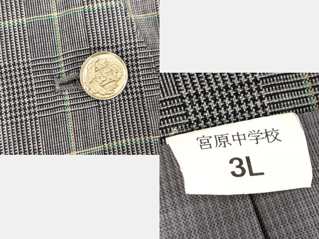 j92 さいたま市立宮原中学校 ブレザー+ベスト+冬服スカート/yt2657【1JXDF】