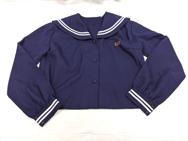 T1100 嘉手納中学校 冬服セーラー服+冬服スカート/yt2259【1ECKE】