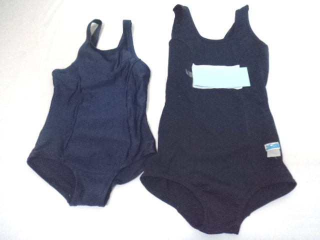 W00 小学校 中学校 女子用スクール水着 体操服 紺ブルマ 3点セット/yt0042