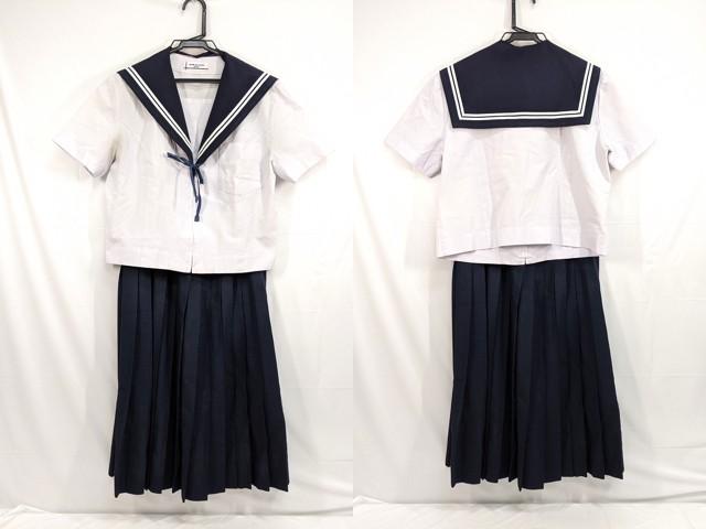 中学校?? 高校?? 夏服セーラー服+夏服スカート+ループタイ/yt2662【3KFD】