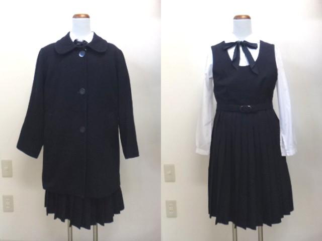 a56椙山女学園中学校高校●制服・ジャンバースカート160A・リボン・ベルト/SS011