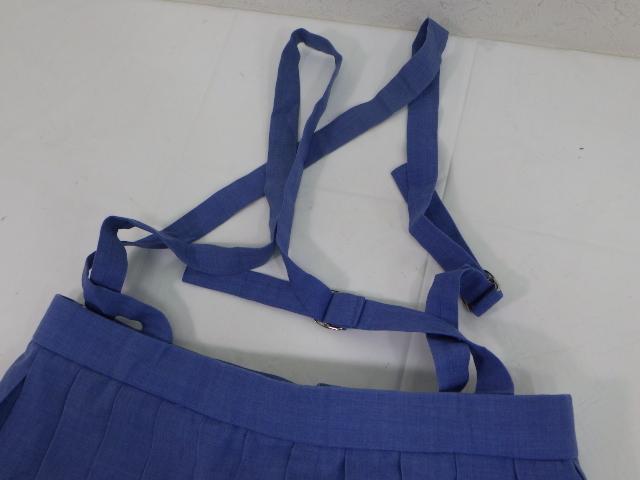熊本県 腹栄中学校 夏服セーラー服+サスペンダー付きスカート/yt1590【2AOWR】