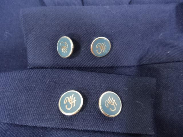 M196 東京都立第四商業高等学校 ブレザー+長袖ブラウス+スカートなど3点/yt0176【6FBE】