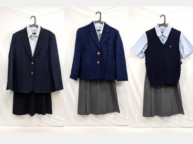 中学校?? 高校?? ブレザー+ニットベスト+半袖・長袖シャツ+冬服スカート/yt2667【4KDS】