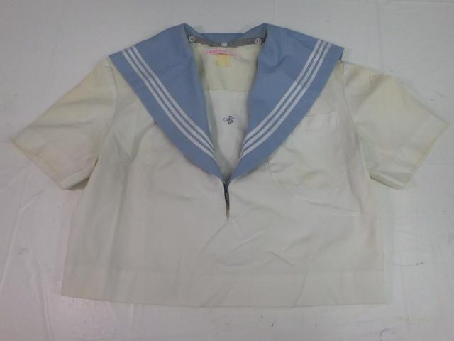 N54 愛知県 淑徳高校 夏服上下セット セーラー服+スカート/yt1281【2RJIU】