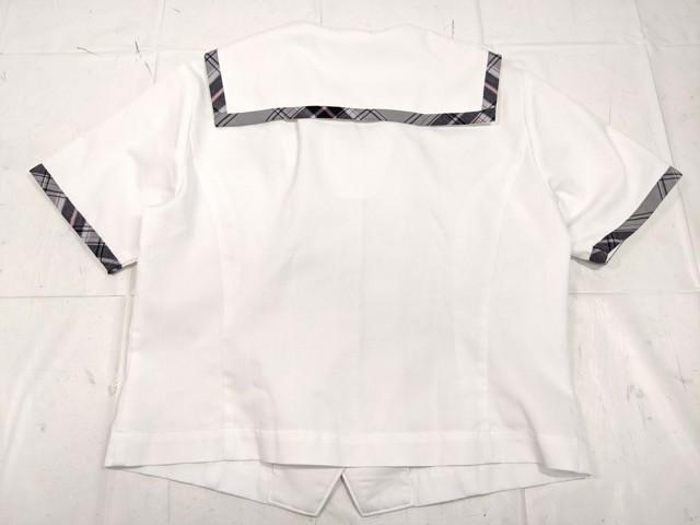 W92 愛知県 栄徳高校 夏服セーラー服+長袖シャツ/yt2270【1XLRV】