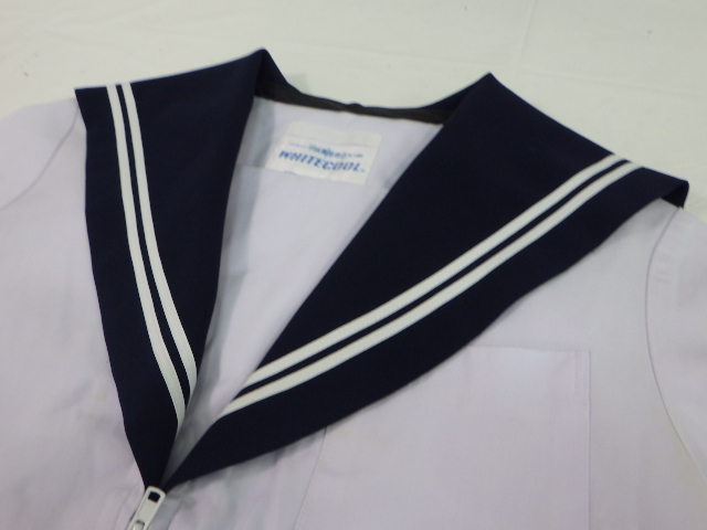 a73 清洲中学校 夏服セーラー服 Sサイズ+夏スカート/yt1596【8SPR】