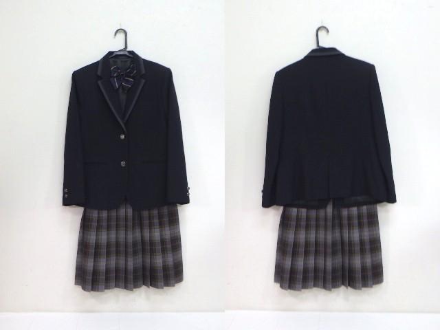 c20 帝京大学可児高等学校中学校 大きいサイズ ブレザー+スカート+リボン/yt1882【18SOF】