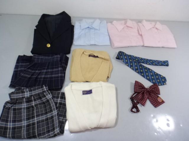 中学校 高校 ブレザー スカート ブラウス リボン/yt0030