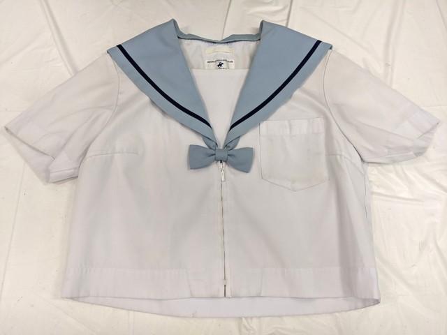 光ヶ丘中学校 リボン付き夏服セーラー服+冬服スカート/yt2474【18KFV】