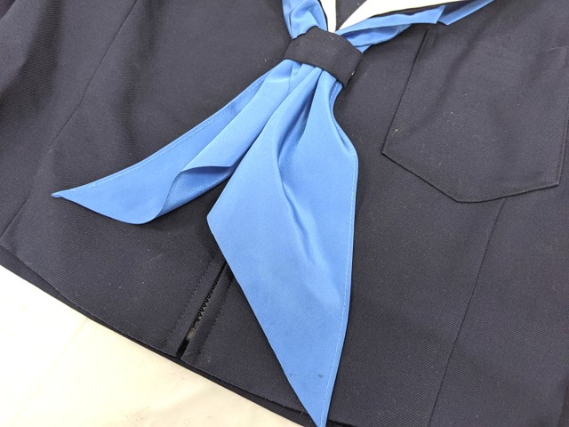 W23 愛知県 高針台中学校 冬服セーラー服+夏服・冬服スカート+リボン/yt2173【6SKG】