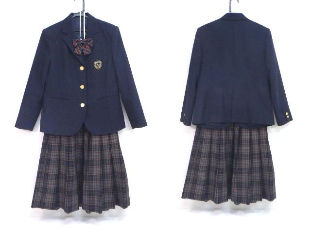 a20 東京都 第十中学校 ブレザー155A+スカート+リボン/yt1507【5SRF】
