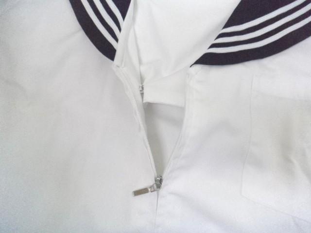 W32 中学校 高校 夏服セーラー服 紺襟 サイズLL/yt0077【3PGH】