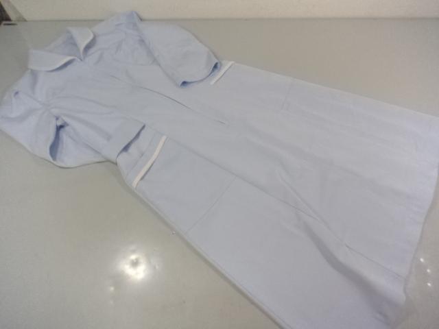 T282 日本大学藤沢高等学校 看護実習服 ナース服 ピンクシャツ+グレーズボン/yt0255【22EW】