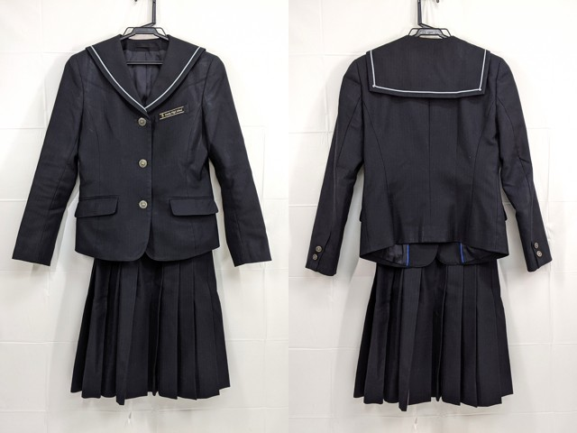 Y21 愛知県 栄徳高校 冬服セーラー服+冬服スカート/yt2390【18LXV】