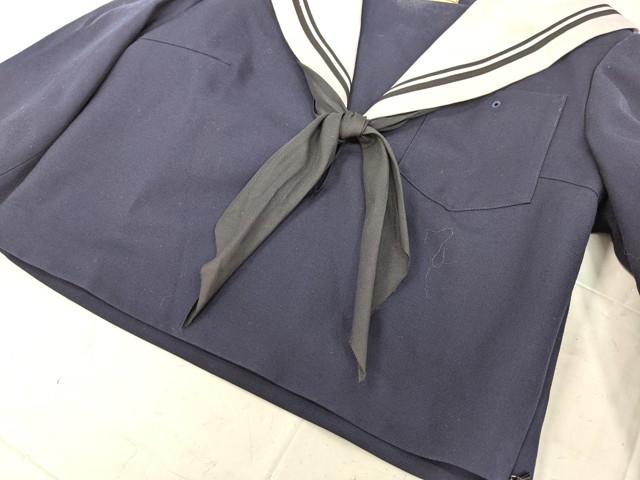 W48 豊田西高校 冬服セーラー服+カーデガン+冬服スカート+リボン/yt2188【1NBJG】