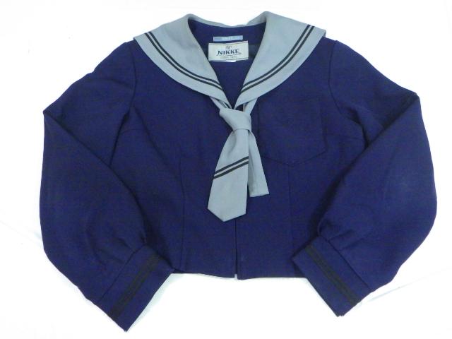 z91 茨木県 波崎第四中学校 冬服セーラー服160+スカート+ネクタイ/yt1514【35WER】