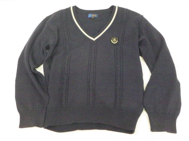 P33 愛知県蒲郡高校 半袖カッターシャツ+セーター/yt1413【4SWA】