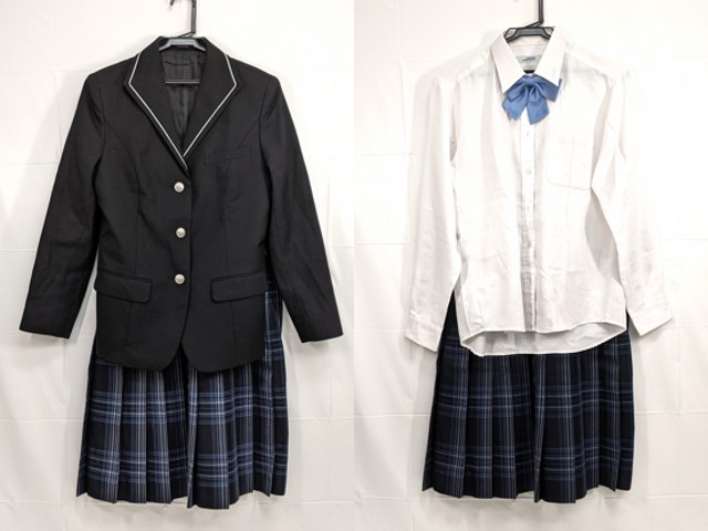 g11 愛知県 成章高校 ブレザー+長袖シャツ+冬服スカート+リボン/yt2296【25XKE】