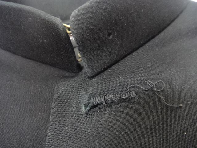 e17/中学校・高校■男子学生服 学ラン制服 上着のみ 180A ボタン無し/og0167【25VB】