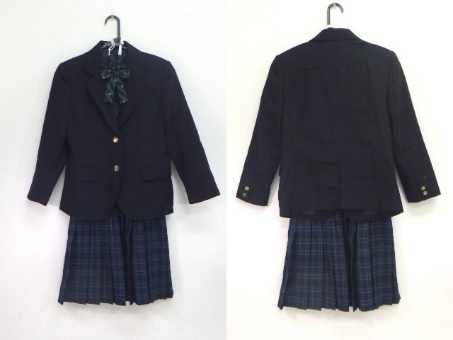 z93 横浜市立緑が丘中学校 ブレザー+スカート+リボン/yt1520【9FPE】