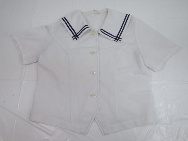 a33 大和青藍高校 夏服セーラー服+セーター/yt1523【8DFA】