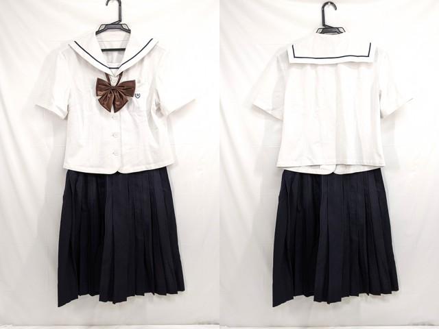 j29 中学校?? 高校?? 夏服セーラー服+夏服スカート+リボン/yt2602【9EWO】
