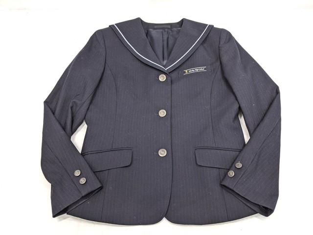 W56 愛知県 栄徳高校 ブレザー+長袖シャツ+冬服スカート+リボン/yt2200【25JVH】
