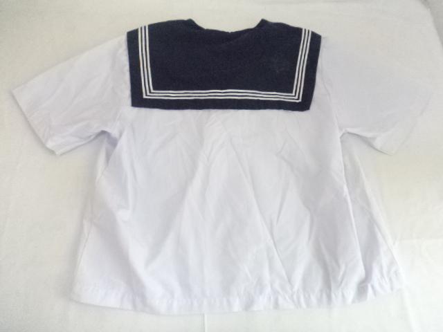 d30/富山 絹川中学校■夏服 半袖セーラー服 上着のみ 170 大きめ/og0236【35XA】