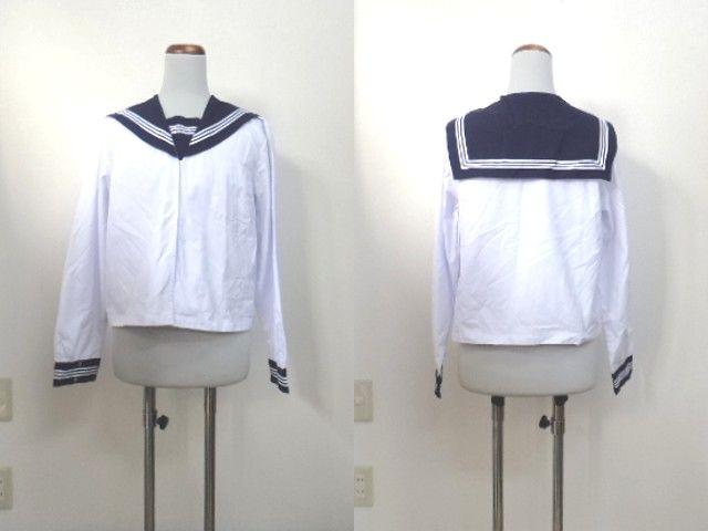 d30/富山 絹川中学校■中間服 セーラー服 上着のみ 170 大きめ/og0237【35AA】
