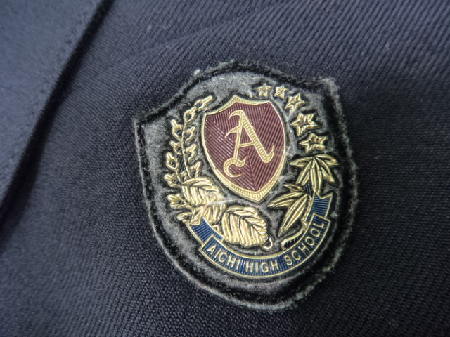 D57 愛知高校 ブレザー165A+長袖シャツ+冬服スカート+リボン/yt0662【2WCFA】