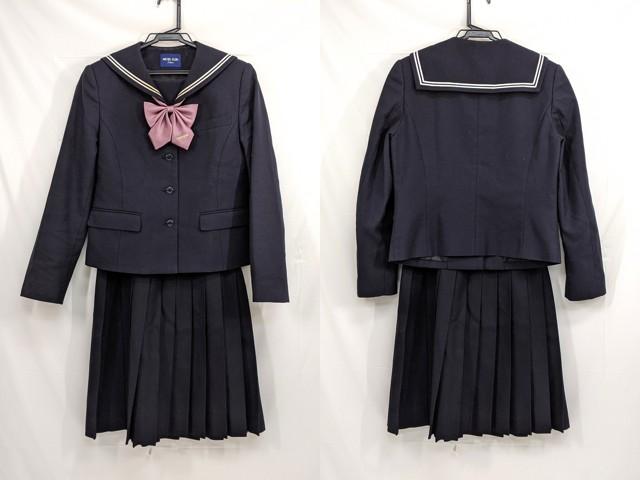 j45 桜花学園高校 冬服セーラー服+冬服スカート+リボン/yt2607【35CBK】