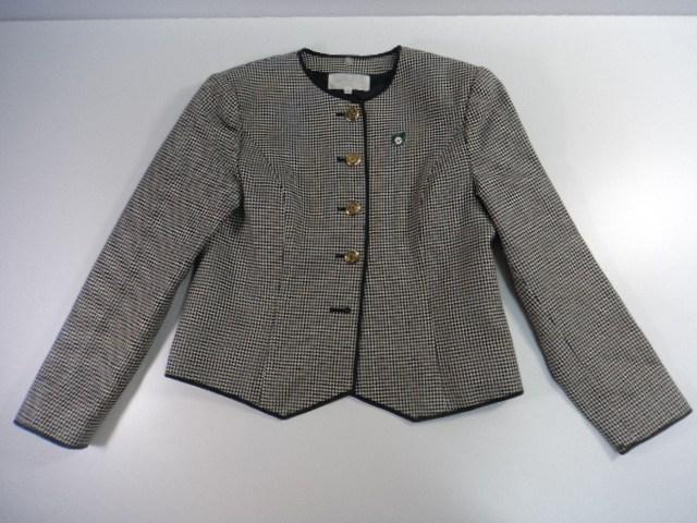 ■s35 専門学校 女子用学生服 制服 ブレザー校章付き スカート ベスト 3点セット/3yt593【23PA】