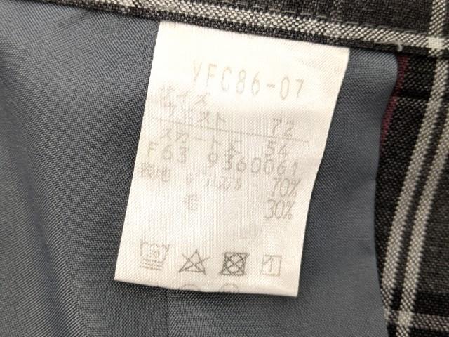 h23 私立流通経済大学附属柏高校 半袖シャツ+ニットベスト+夏服スカート/yt2410【13KCG】