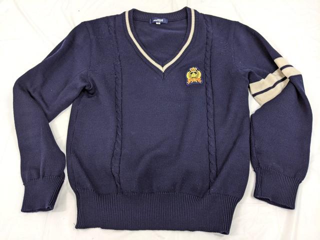 h23 私立流通経済大学附属柏高校 長袖シャツ+セーター+冬服スカート/yt2411【15XHR】