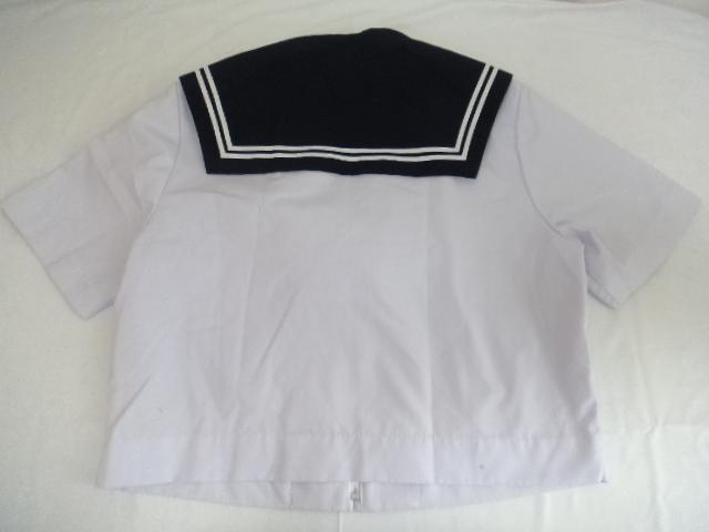 V00 岐阜県 向陽中学校 セーラー服 スカート 紺・白スカーフ/yt0086